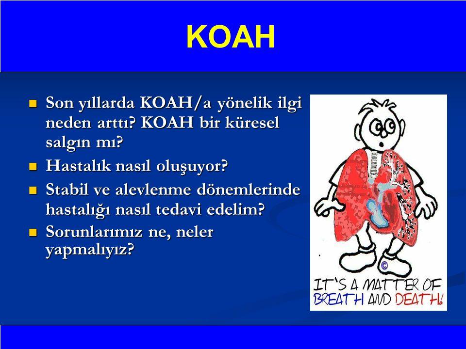 Son yıllarda KOAH/a yönelik ilgi neden arttı.KOAH bir küresel salgın mı.