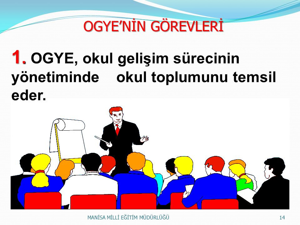 1.1. OGYE, okul gelişim sürecinin yönetiminde okul toplumunu temsil eder.