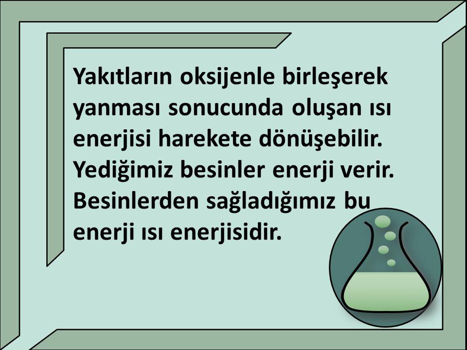 ISI : Isı bir enerjidir.Diğer enerjilere dönüşebilir.