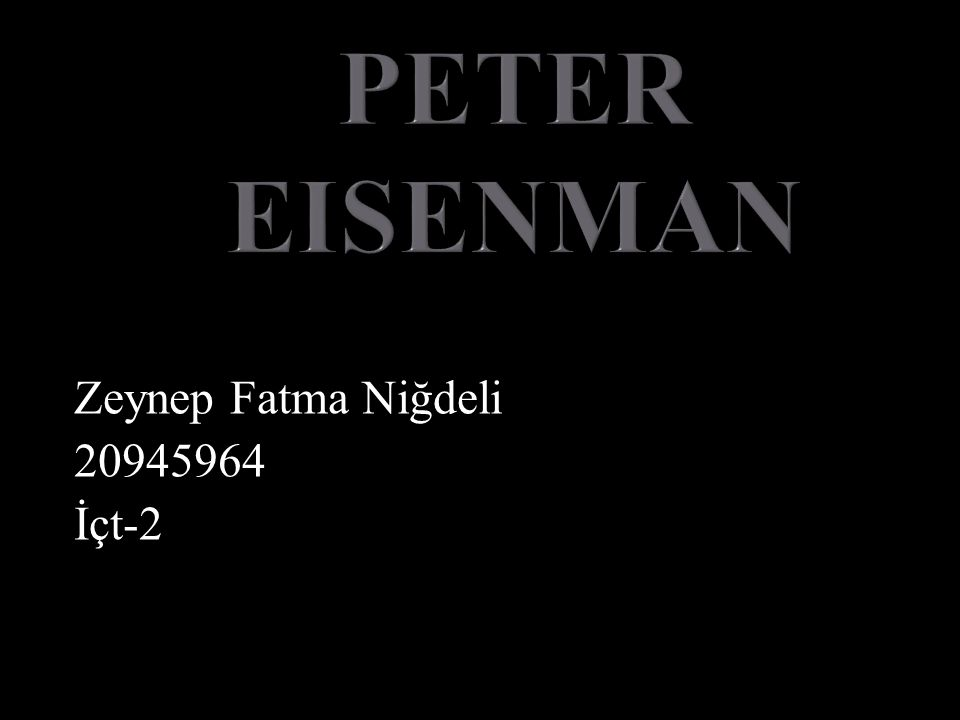 Zeynep Fatma Niğdeli 20945964 İçt-2