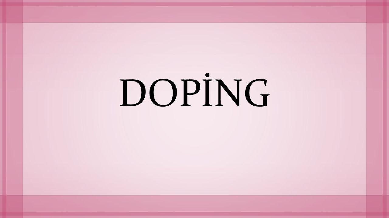 Doping Nedir.