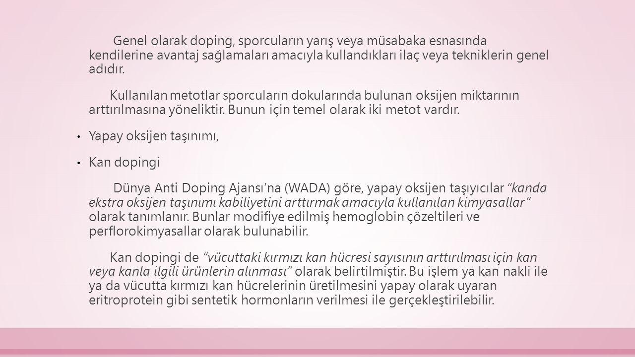Doping maddelerinin zararları nelerdir.