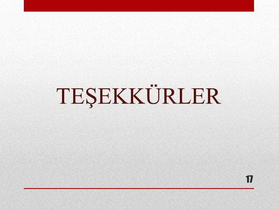 TEŞEKKÜRLER 17