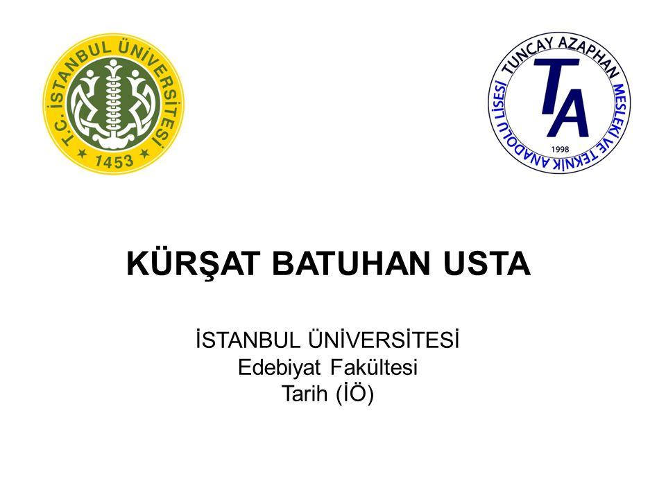 İREM ÖZÇOBAN İSTANBUL ÜNİVERSİTESİ Edebiyat Fakültesi Felsefe