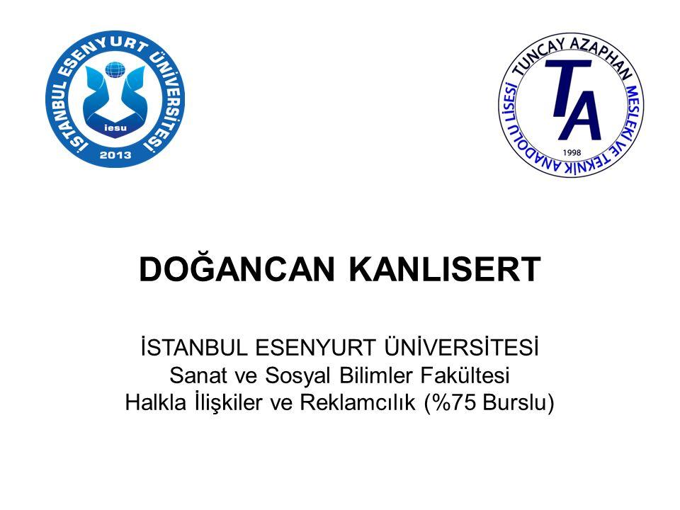 ADEM SEYFULLAH CEYLAN YENİ YÜZYIL ÜNİVERSİTESİ (İSTANBUL) İletişim Fakültesi Görsel İletişim Tasarımı (Tam Burslu)