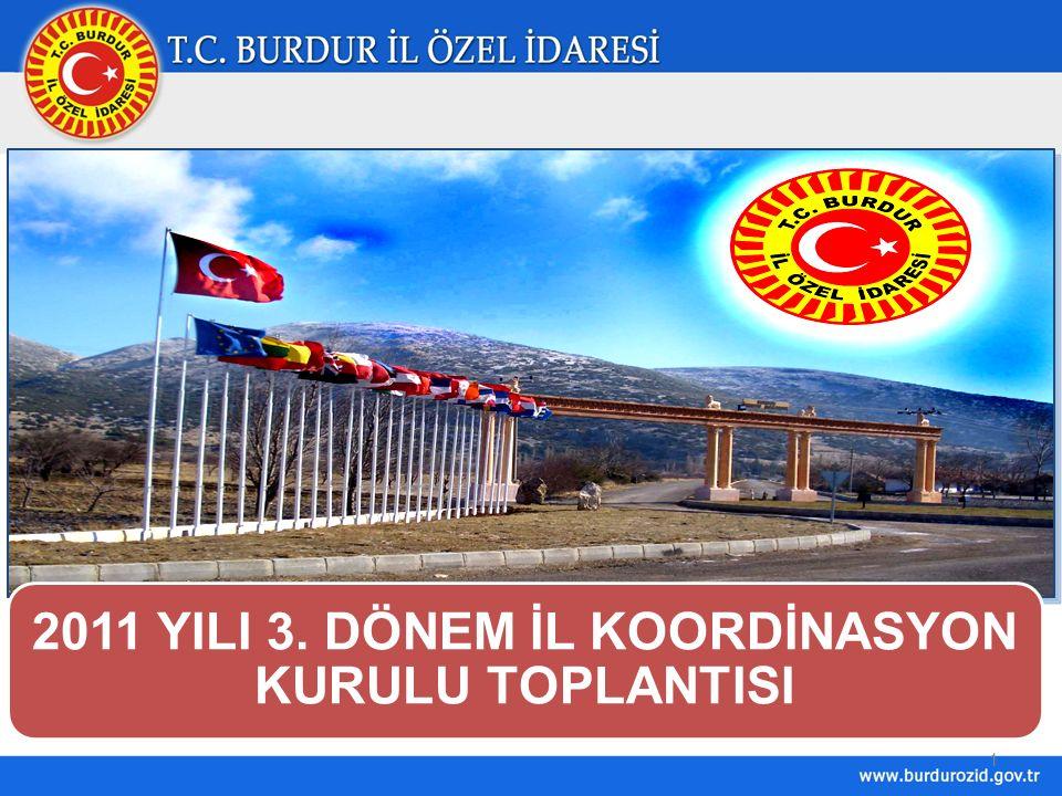 1 2011 YILI 3. DÖNEM İL KOORDİNASYON KURULU TOPLANTISI