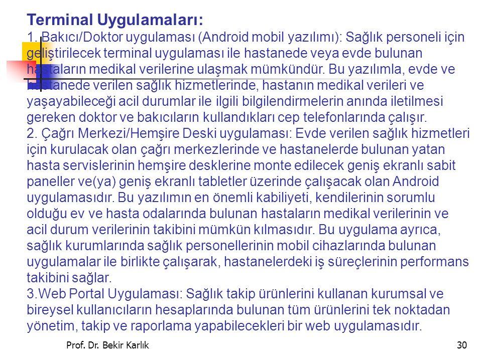 Prof.Dr. Bekir Karlık30 Terminal Uygulamaları: 1.