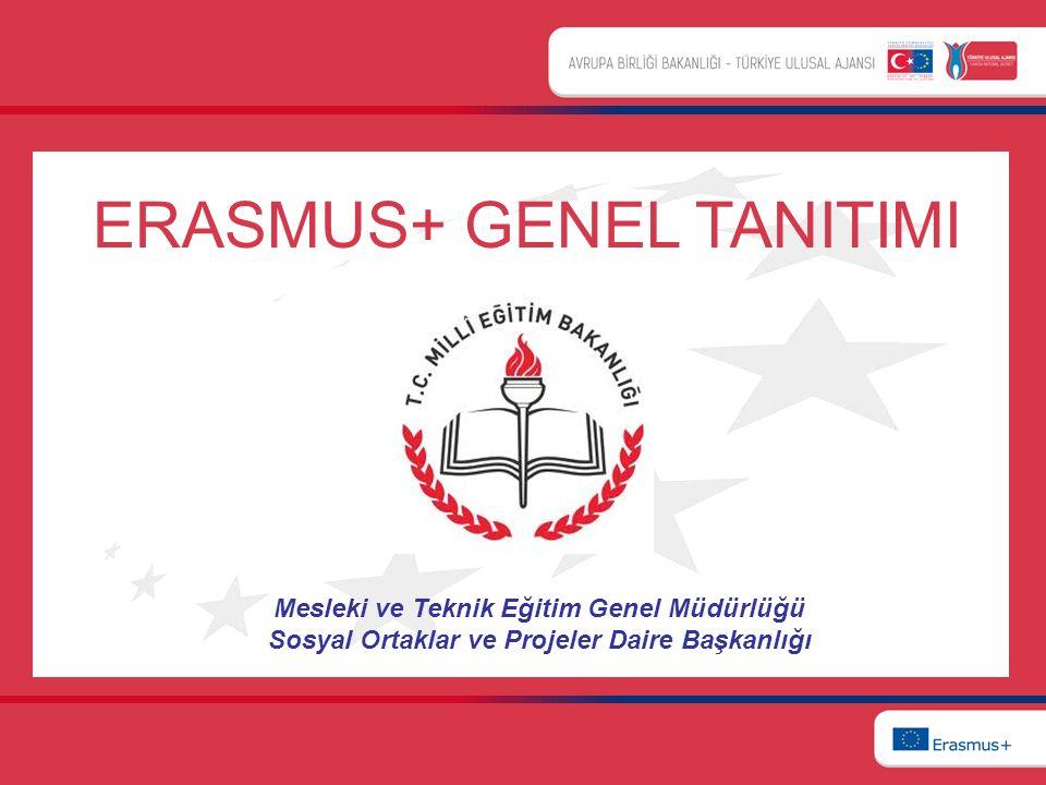 Mesleki ve Teknik Eğitim Genel Müdürlüğü Sosyal Ortaklar ve Projeler Daire Başkanlığı ERASMUS+ GENEL TANITIMI