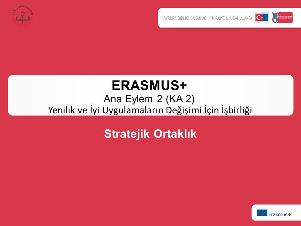 ERASMUS+ Ana Eylem 2 (KA 2) Yenilik ve İyi Uygulamaların Değişimi İçin İşbirliği Stratejik Ortaklık