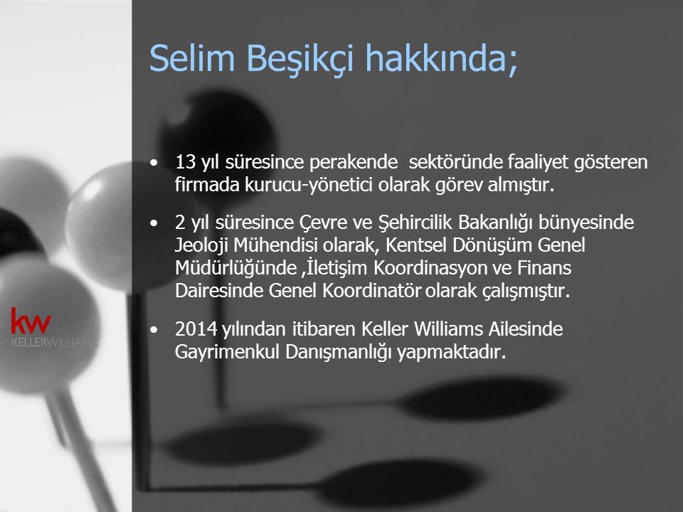 Selim Beşikçi hakkında; 13 yıl süresince perakende sektöründe faaliyet gösteren firmada kurucu-yönetici olarak görev almıştır. 2 yıl süresince Çevre v