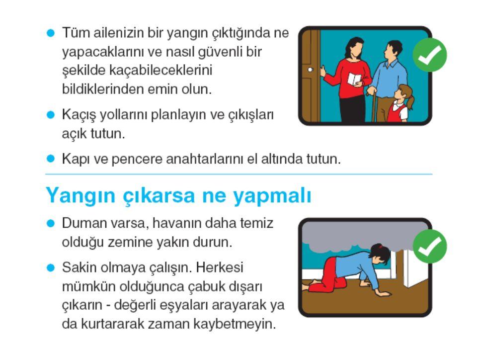 -Bir misafiriniz oturma odanızda kanepe yastıkları arasına bir sigara düşürür.