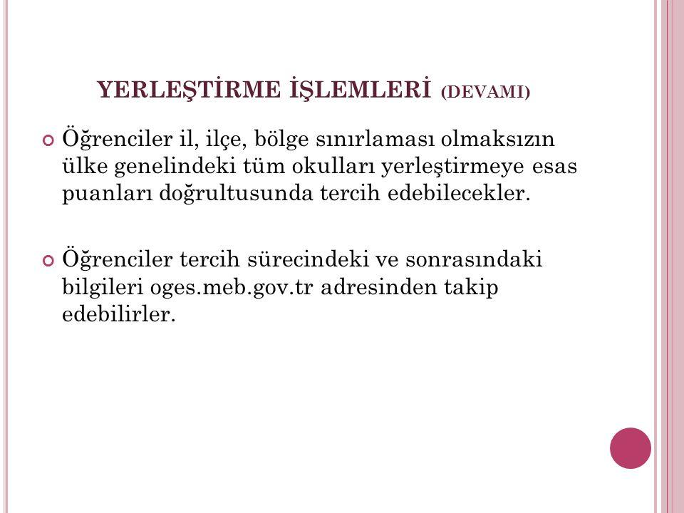 ÖZEL OKULLARDAKİ BURS İMKANI Özel okullar Türkiye çapında %5'lik dilimden öğrenci alacaklar.