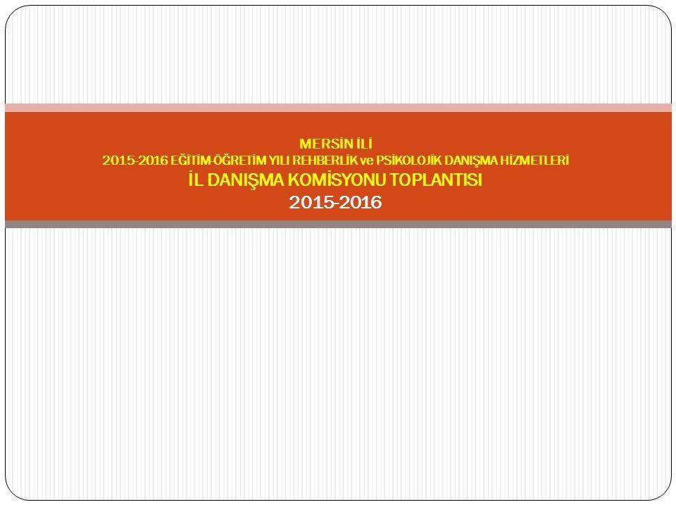 GÜNDEM 1) Açılı ş 2) 2015-2016 E ğ itim Ö ğ retim Yılı Rehberlik Ve Ara ş tırma Merkezleri Rehberlik Ve Psikolojik Danı ş ma Hizmetleri Yıllık Çerçeve Planlarının Görü ş ülmesi Ve Onaylanması 3) Rehberlik Ö ğ retmeni Olmayan Okullara Yönelik Yapılacak Çalı ş maların Planlanması 4) İ lkokullarda Rehberlik Saatinin Kaldırılması İ le Rehberlik İ lkokullarda Rehberlik Çalı ş malarının Yürütülmesi İ çin Alınacak Önlemler 5) İ lçe Psikososyal Müdahale Ekiplerinin Olu ş turulmasına Yönelik Yapılacak Çalı ş malar 6) E ğ itim Ortamlarında Ş iddetin Azaltılması Ve Önlenmesine Yönelik Yapılacak Çalı ş malar 7) Psikoe ğ itim Uygulayıcı E ğ itiminin Yaygınla ş tırılması İ çin Yapılacak Çalı ş malar 8) Çocuk Koruma Kanunu Danı ş manlık Tedbiri Kararlarının Uygulanmasına Yönelik Çalı ş malar 9) Türkiye Ba ğ ımlılıkla Mücadele (Tbm) Çalı ş malarının Planlanması 10) Okul Rehberlik Servislerinin Etkin Bir Ş ekilde Çalı ş abilmeleri İ çin Alınacak Önlemler 11) İ dareci Ve Ö ğ retmenlere Rehberlik Anlayı ş ı Kazandırma Çalı ş malarının Planlanması 12) Dilek Ve Temenniler 13) Kapanı ş