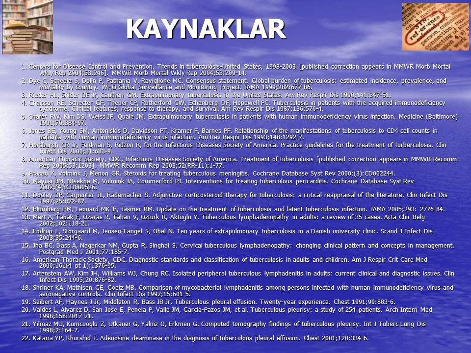 KAYNAKLAR 1.Centers for Disease Control and Prevention.