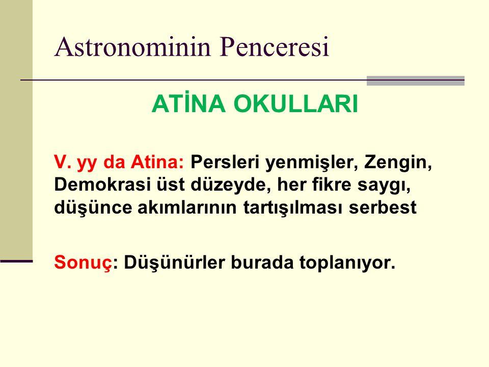Astronominin Penceresi ATİNA OKULLARI V.