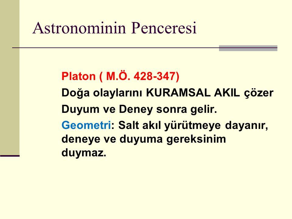 Astronominin Penceresi Platon ( M.Ö.
