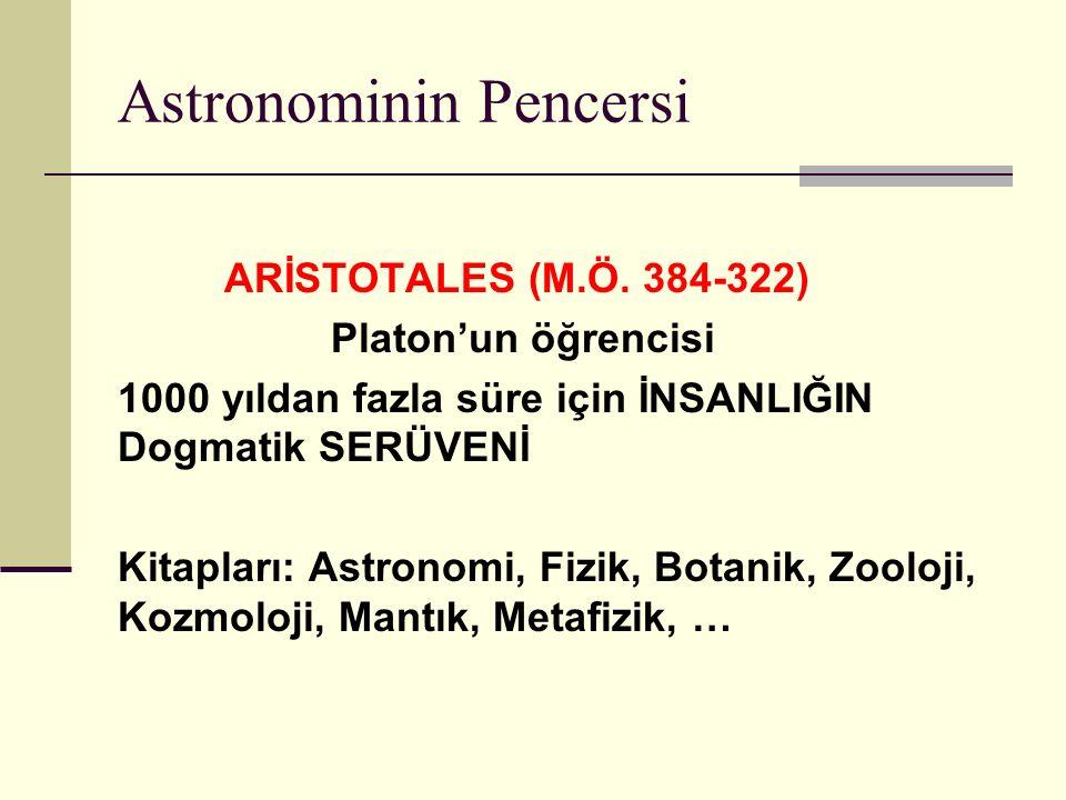 Astronominin Pencersi ARİSTOTALES (M.Ö.