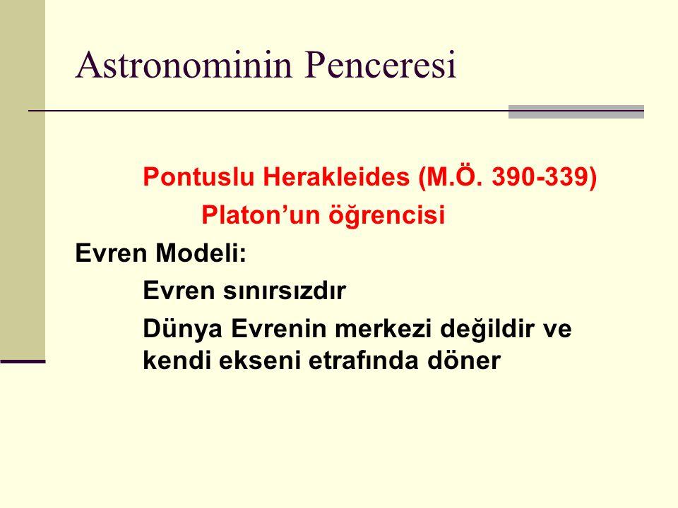 Astronominin Penceresi Pontuslu Herakleides (M.Ö.