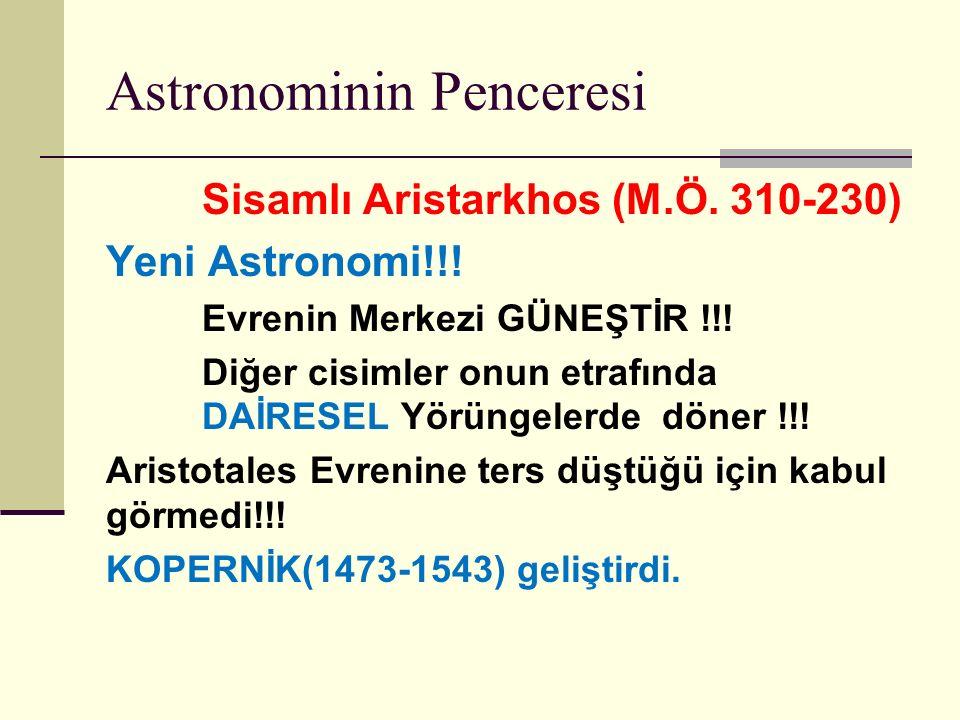 Astronominin Penceresi Sisamlı Aristarkhos (M.Ö.310-230) Yeni Astronomi!!.