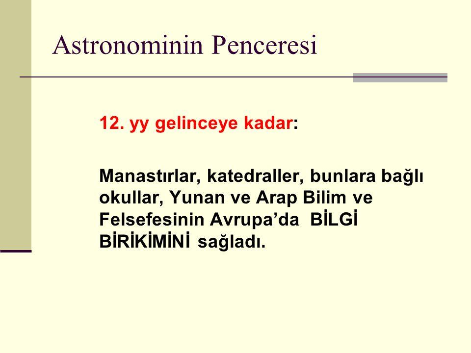 Astronominin Penceresi 12.