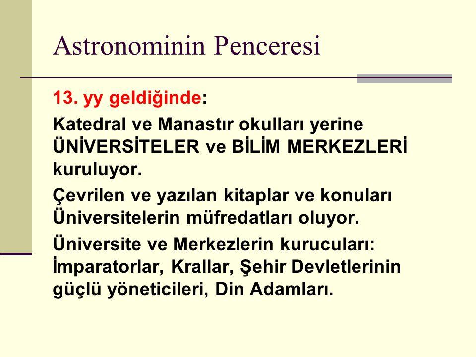Astronominin Penceresi 13.