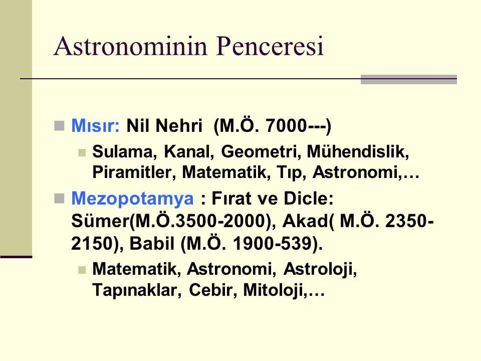 Astronominin Penceresi Mısır: Nil Nehri (M.Ö.