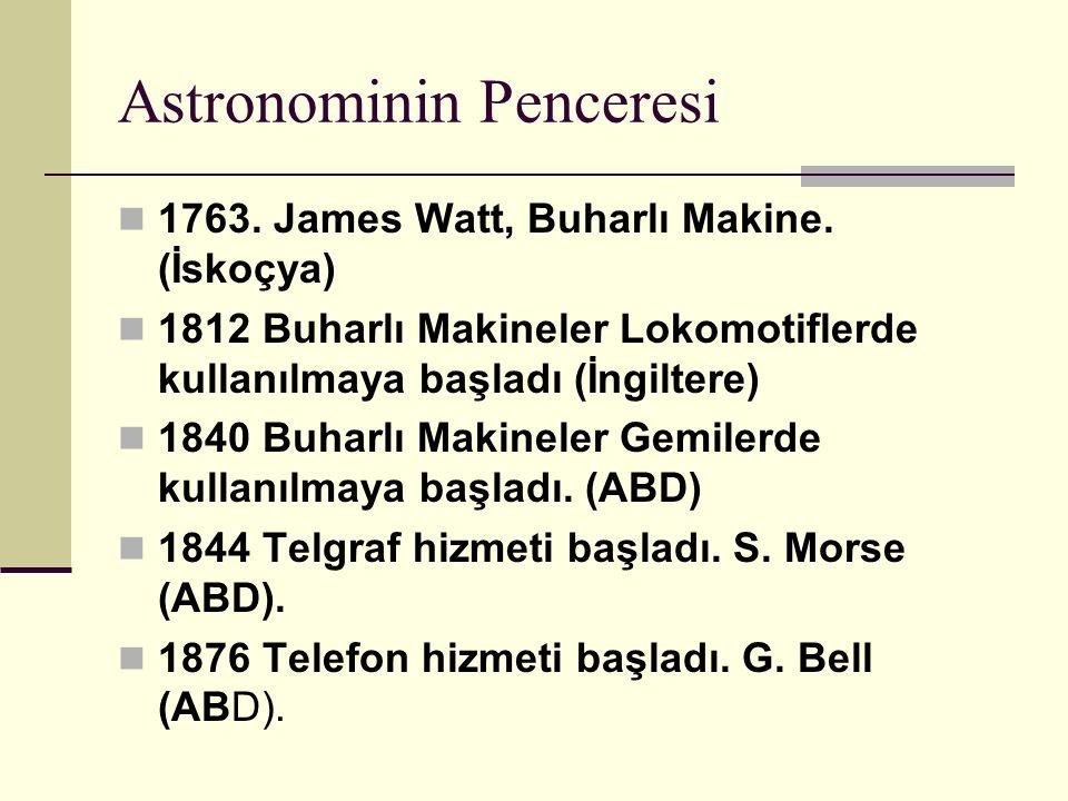 Astronominin Penceresi 1763.James Watt, Buharlı Makine.