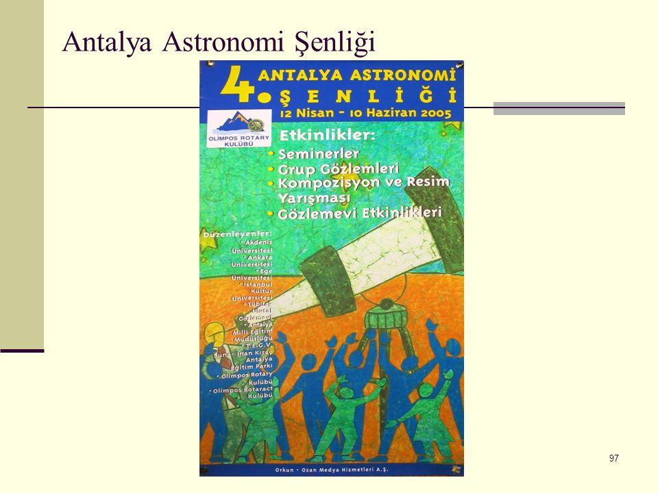 97 Antalya Astronomi Şenliği