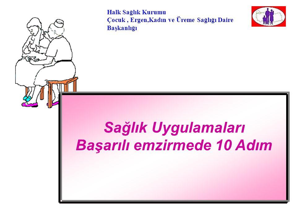 Halk Sağlık Kurumu Çocuk, Ergen,Kadın ve Üreme Sağlığı Daire Başkanlığı Bebek Dostu Hastane Çalışmaları