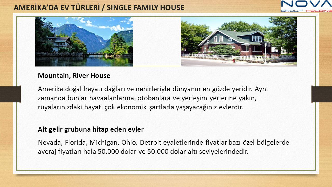 Mountain, River House Amerika doğal hayatı dağları ve nehirleriyle dünyanın en gözde yeridir. Aynı zamanda bunlar havaalanlarına, otobanlara ve yerleş