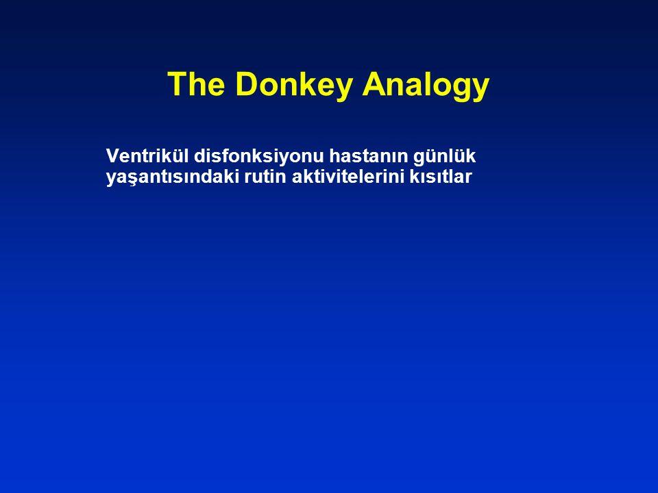 The Donkey Analogy Ventrikül disfonksiyonu hastanın günlük yaşantısındaki rutin aktivitelerini kısıtlar