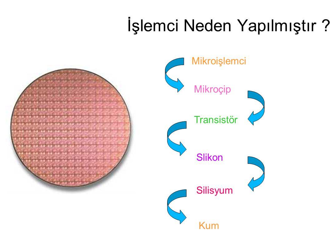 İşlemci Neden Yapılmıştır ? Mikroişlemci Mikroçip Slikon Kum Transistör Silisyum