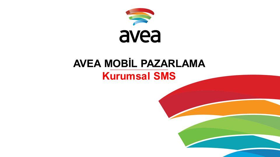 AVEA MOBİL PAZARLAMA Kurumsal SMS