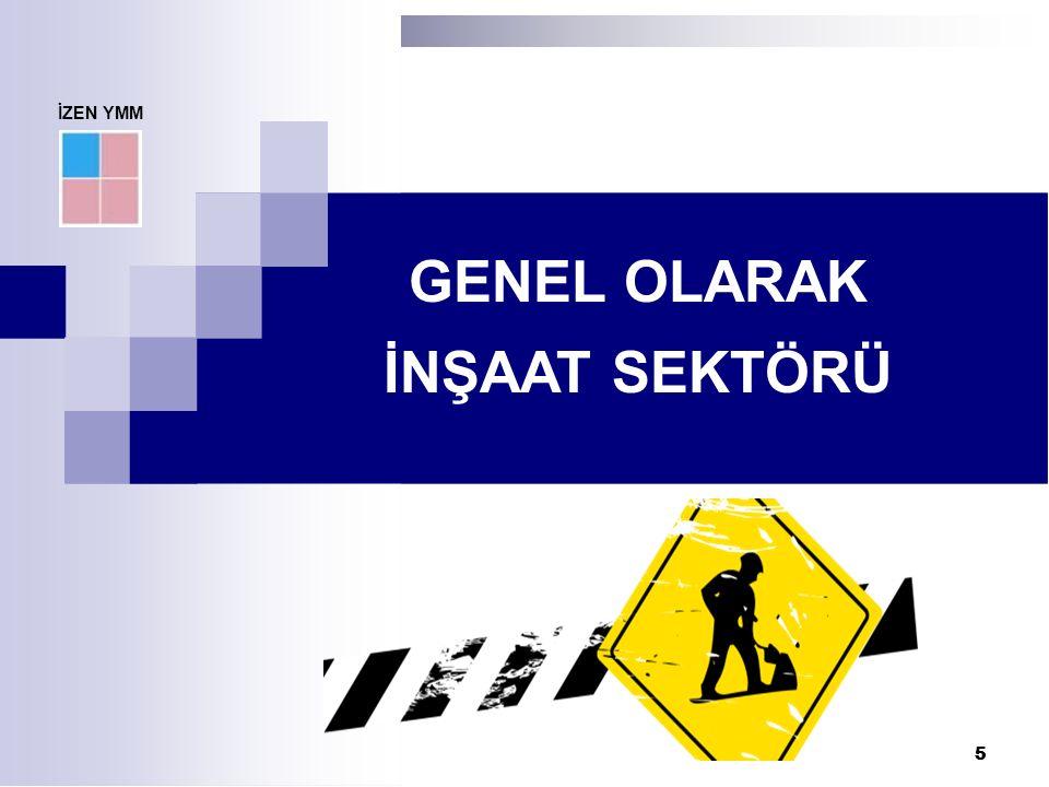 6 6 İnşaat sektörü Türk ekonomisinde çok büyük paya sahiptir.