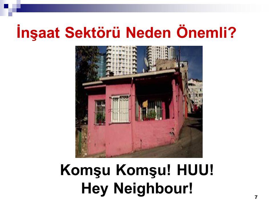 7 İnşaat Sektörü Neden Önemli? Komşu Komşu! HUU! Hey Neighbour!