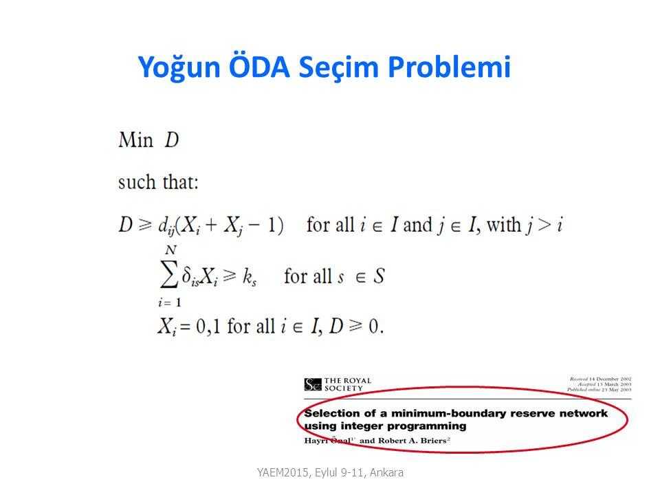 R1 R2 R3 R4 Yoğun ÖDA Seçim Problemi YAEM2015, Eylul 9-11, Ankara