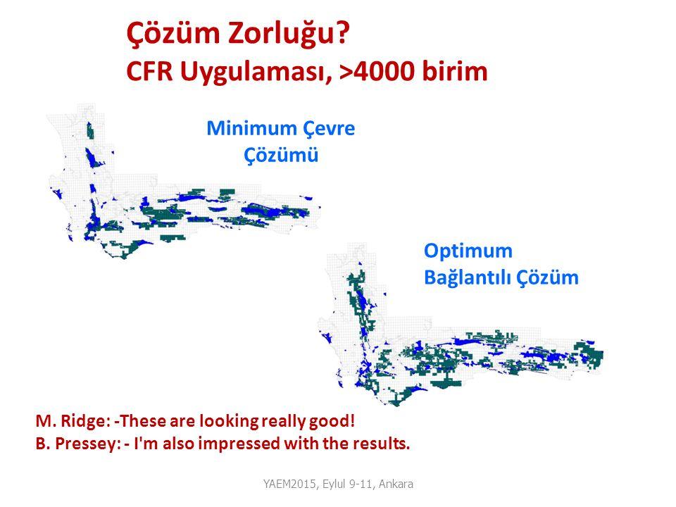 YAEM2015, Eylul 9-11, Ankara Optimum Bağlantılı Çözüm Minimum Çevre Çözümü M. Ridge: -These are looking really good! B. Pressey: - I'm also impressed