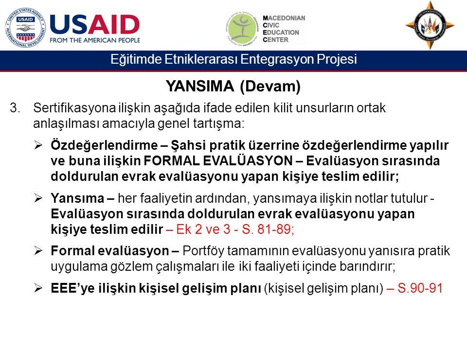 Eğitimde Etniklerarası Entegrasyon Projesi KISIM 2 EĞİTMEN-DANIŞMAN SERTİFİKASYONU