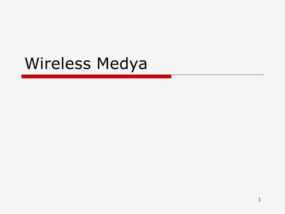Wireless LAN organizasyon ve standartları  IEEE – kablosuz network için standartları oluşturur.