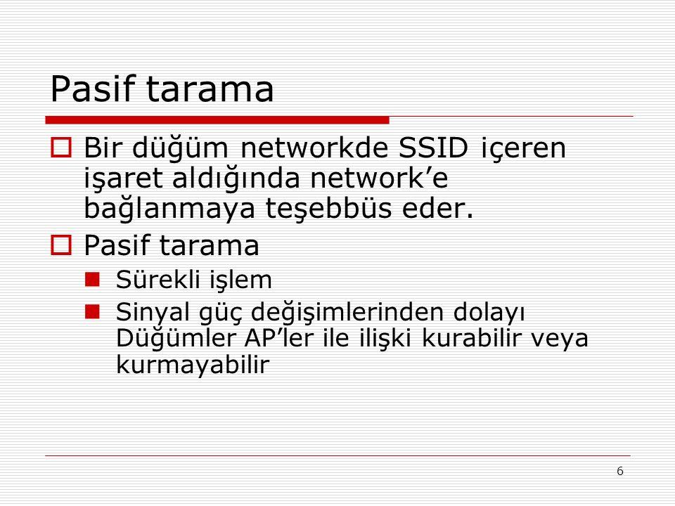 Wireless LANlar nasıl haberleşir  Düğümler 802.x networklerinde olduğu şekilde frame leri geçirir.