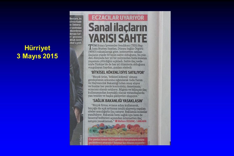 Hürriyet 3 Mayıs 2015