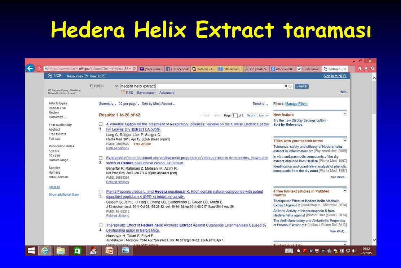 Hedera Helix Extract taraması