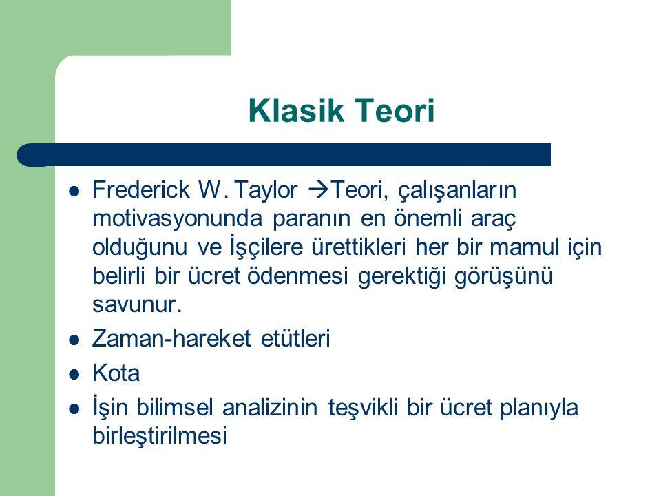 Klasik Teori Frederick W.