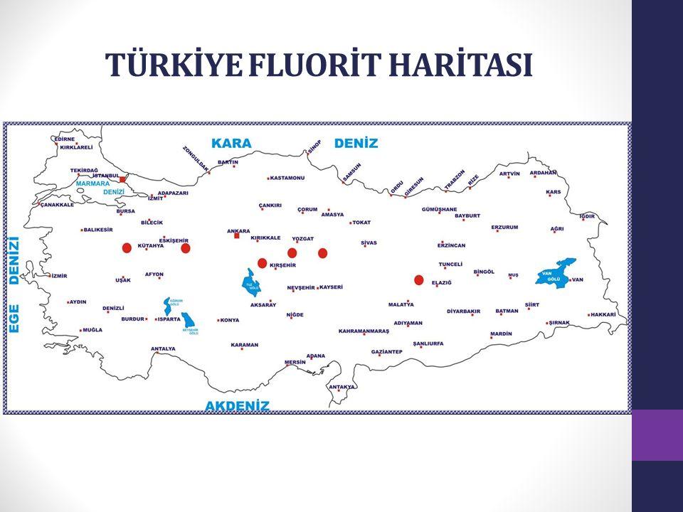 TÜRKİYE FLUORİT HARİTASI