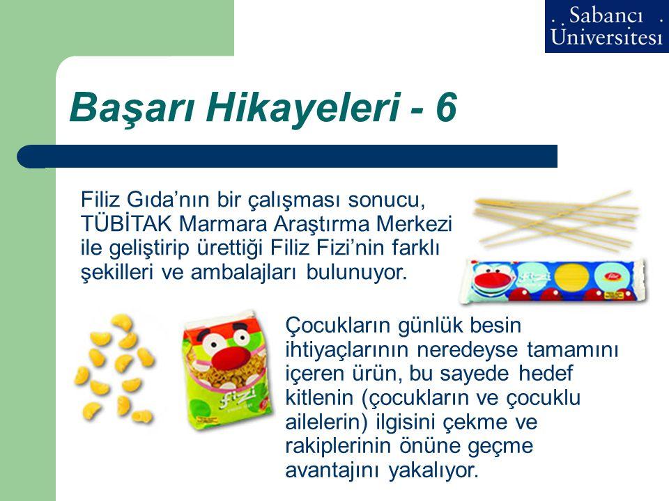 Başarı Hikayeleri - 6 Filiz Gıda'nın bir çalışması sonucu, TÜBİTAK Marmara Araştırma Merkezi ile geliştirip ürettiği Filiz Fizi'nin farklı şekilleri v