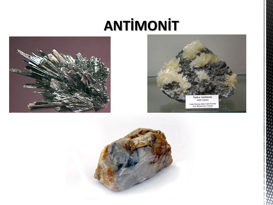 GENEL  Doğal antimon sülfürden (Sb 2 S 3 ) elde edilir.