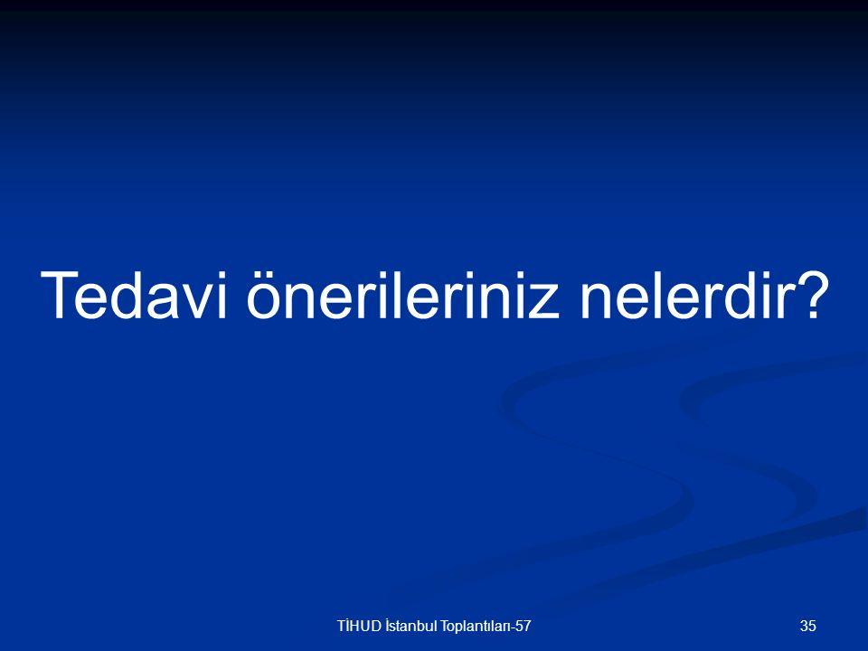 35TİHUD İstanbul Toplantıları-57 Tedavi önerileriniz nelerdir?