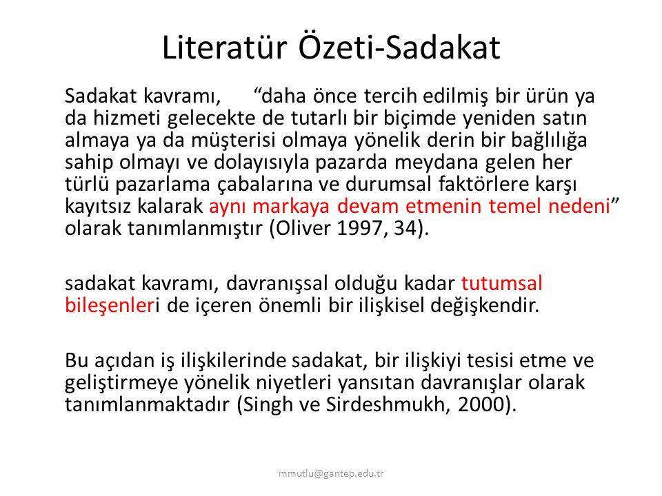 Araştırma Yöntemi ve Örneklem- Devam Gaziantep ve çevre illerde öntest uygulandı.