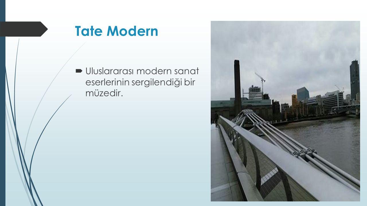 Tate Modern  Uluslararası modern sanat eserlerinin sergilendiği bir müzedir.