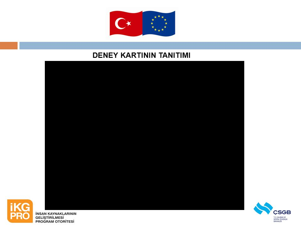 DENEY KARTININ TANITIMI